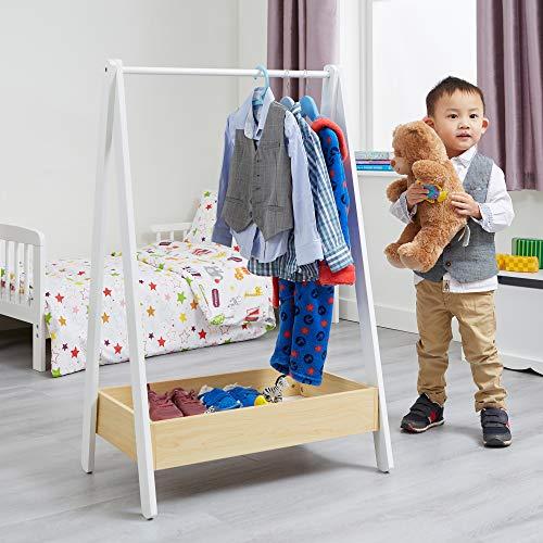 Liberty House Toys Mueble de Madera de Pino Blanco y Madera de MDF, 98,5 cm de Alto x 64,5 cm de Ancho x 42 cm de Profundidad.