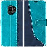 Mulbess Handyhülle für Samsung Galaxy S9 Hülle Leder,