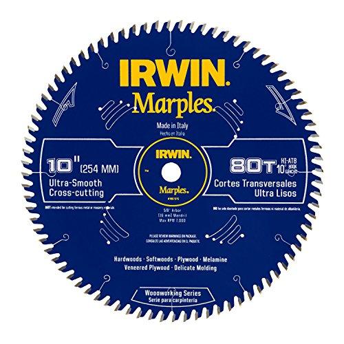 IRWIN Marples 10-Inch Circular Saw Blade, Hi-Alternate Tooth Bevel,...