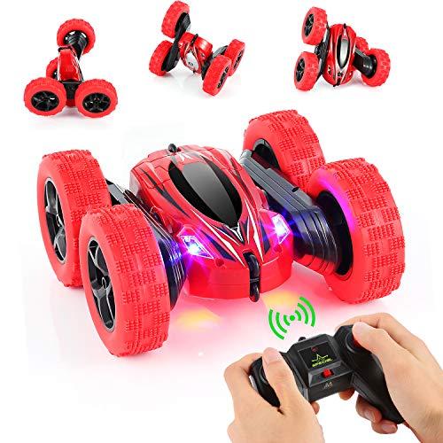 OCDAY Ferngesteuertes Auto Spielzeugauto für Kleinkinder Polizeiauto ab 2 Jahren mit Lichtern und Sound, Geschenk für Jungen Mädchen Kinder (Rot)