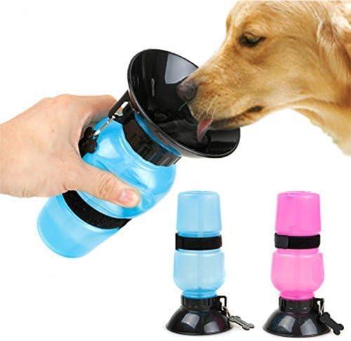 Simxen Dog Water Bowl Bottle Sipper Portable Aqua Dog Travel Water Bottle Bowl 18-oz Dog Bottle Auto Dog Mug for Pets