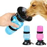 Simxen Dog Water Bowl Bottle Sipper Portable Aqua Dog Travel Water Bottle Bowl