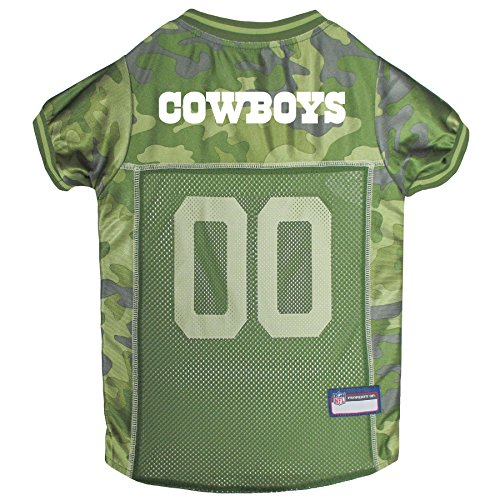 NFL Dallas Cowboys Camouflage Dog Jersey, Medium. - CAMO PET Jersey Available in 5 Sizes & 32 NFL Teams. Hunting Dog Shirt