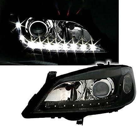 AD Tuning GmbH & Co. KG DEPO Faro Set Transparente Cristal Negro con LED Luz