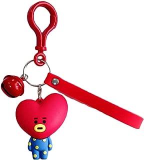 Unisex Cute Silicone Cartoon Key Chain with Bell (TATA Love)