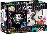 Alicia en el país de las maravillas, conejo blanco, Funko Pop & Tee tamaño mediano