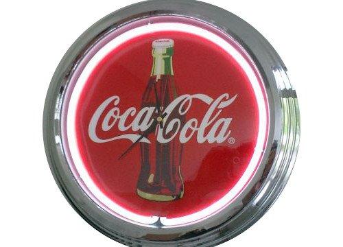 Neonuhr Coca-Cola Wanduhr Deko-Uhr Leuchtuhr USA 50's Style Retro Uhr