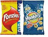 Aperitivo - Fonzies Croccantini di Mais al Formaggio 280g + Yonkers Snack al Formaggio non Fritti 120g