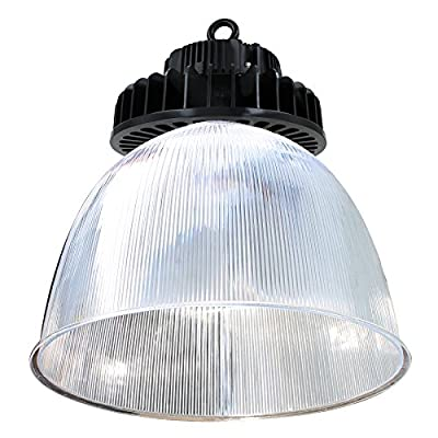 High Bay LED Hook Mount Fixture 100W, 13100 Lumens with Reflector, 5000K ...