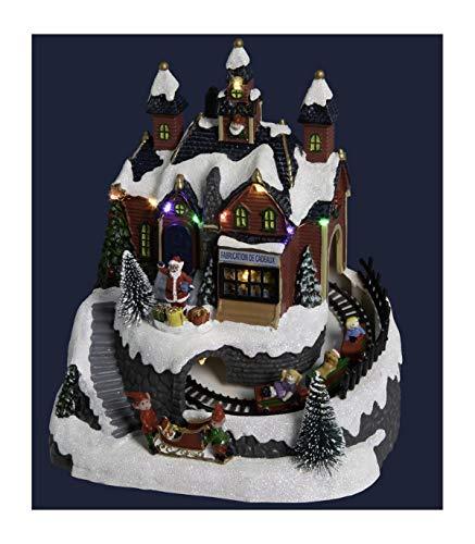 Pueblo de Navidad luminoso Taller y tren de Navidad luminoso