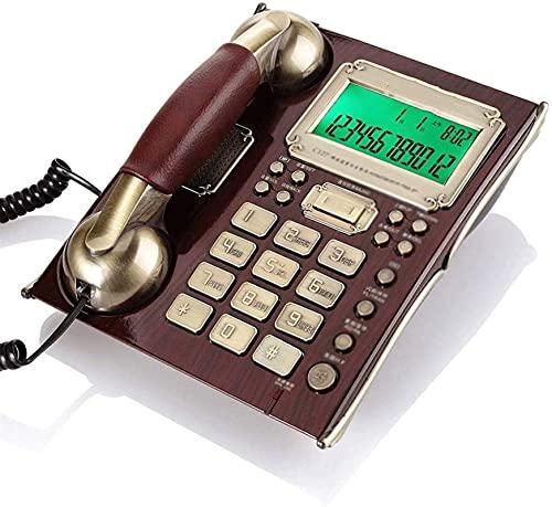 HHORB Decoración De Teléfono De Teléfono Continental con Cable Antiguo De Dial Giratorio Retro (Color : A)