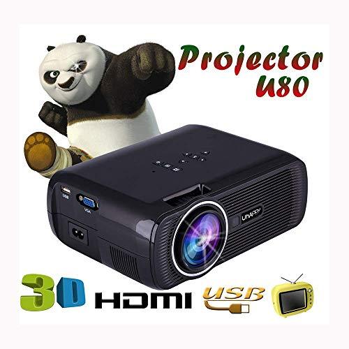 Laserstraalprojectoren, 1080p, Full HD, 1000 lumen, verticale keystone-correctie voor thuisbioscoop, rechtstreeks aansluiten op telefoon, tablet, PC en laptop