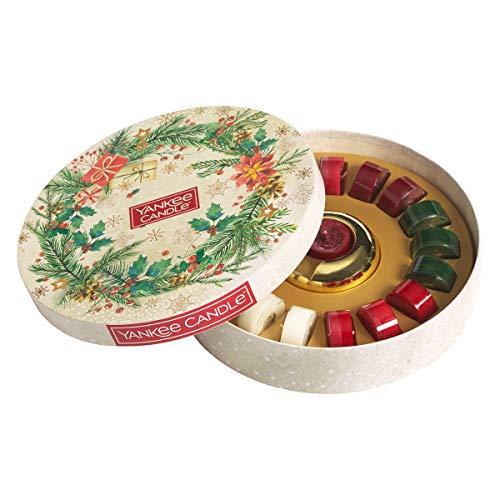 Yankee Candle Geschenkset   Duftkerzen für Weihnachten   18Teelichter & 1Halter   Magical Christmas Morning Collection