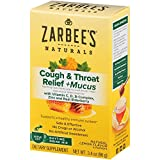 Zarbee's Naturals Cough & Throat Relief + Mucus Daytime Drink Mix with Dark Honey, Natural Lemon...