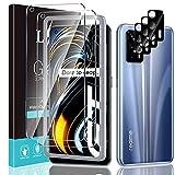 LϟK 5 Pack Protector de Pantalla Compatible con Realme GT 5G con 2 Pack Cristal Templado y 3 Pack Protector de Lente de Cámara - Sin Burbujas Dureza 9H Doble Protección Kit Fácil instalación