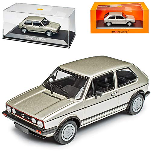 V-W Volkwagen Golf I 1 G-T-I 3 Türer Silber Metallic 1974-1983 1/43 Minichamps Maxichamps Modell Auto