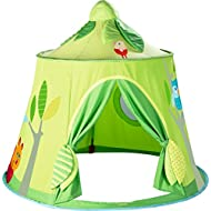 HABA Magic Forest Play Tent - Free-Standing Fabric Hut with Mesh Window and Door for Ages 18 Months and Up