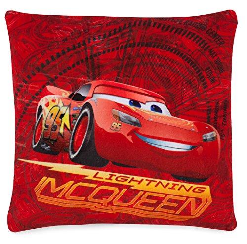Joy Toy AG- Pixar Coussin Flash Mcqueen Disney Cars, 10765, Rouge, 37,00 x 37,00 x 8,00 cm