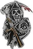 Sons of Anarchy Grim Reaper - Parche bordado grande para ropa MC Chaleco Chaquetas Mochilas 32 x 21 cm