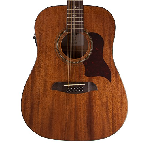 Sawtooth Mahogany Series 12-String Solid Mahogany Top Acoustic-Electric Dreadnought Guitar
