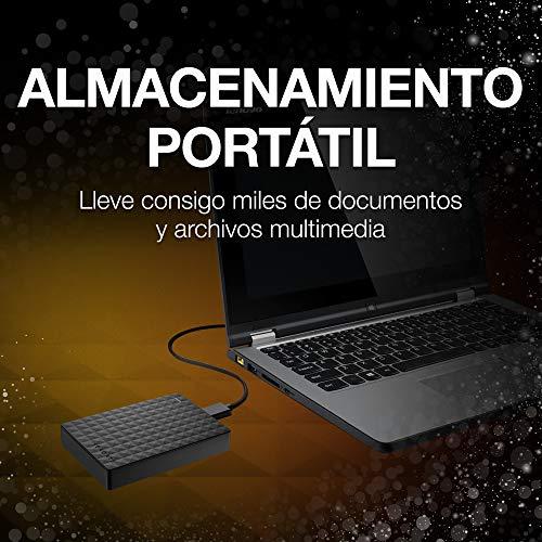 Seagate Expansion STEA4000400 - Disco duro externo portátil para PC, Xbox One y PlayStation 4 (4TB, USB 3.0 ), Negro