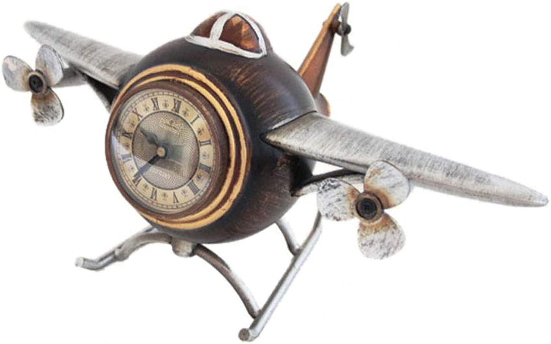 机上時計家庭用時計ヨーロッパの樹脂製時計時計子供用勉強寝室装飾時計居間用寝室用オフィス(色:絵色)