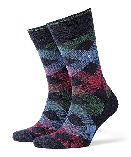 BURLINGTON Herren Socken Newcastle - Schurwollmischung, 1 Paar, Blau (Marine 6120), Größe: 40-46