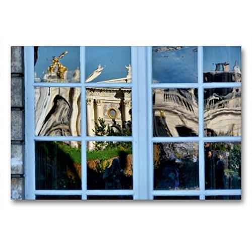 CALVENDO Premium Textil-Leinwand 90 x 60 cm Quer-Format Fenster von City Hall, Leinwanddruck von Thomas Bartruff