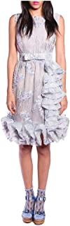 Anna Sui Women'S Cornflower Wistiria Puff Jacquard Dress