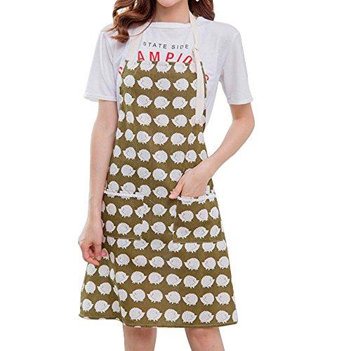 Delantal cocina limpia moda antifouling algodón capuchas lino anti-aceite chef adulto delantal...