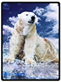 Cute Polar Bear Super Soft Plush Queen Size Blanket 58' x 80' (Large)