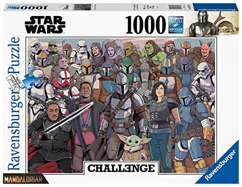 RAVENSBURGER PUZZLE- SW: Challenge Puzzle-Baby Yoda Ravensburger 16770-Puzzle (1000 Piezas), diseño, Multicolor (16770)
