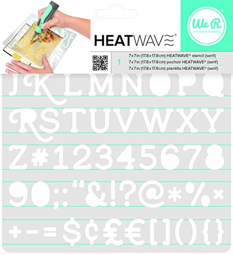We R Memory Keepers Heatwave Power Tool-Serif, 17,8 x 17,8 cm