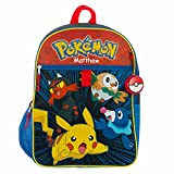 Personalized 16' Pokemon Backpack with Utility Case, Water Bottle, Gel Bead Ice Pack, and Squishy Dangle