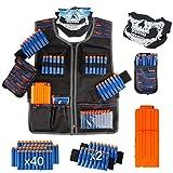 LVHERO Último El Kit Chaleco Táctico para Nerf Guns con Dardos de Recarga, Bolsa de Dardos, Pulsera, máscara de Tubo Facial, Clips de Recarga rápida y Gafas Protectoras para niños