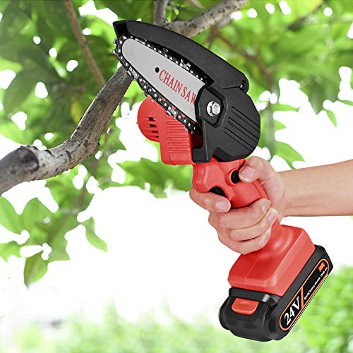 S SMAUTOP Portable Electric Pruning Saw, Mini Electric Chain Saw One-Hand...