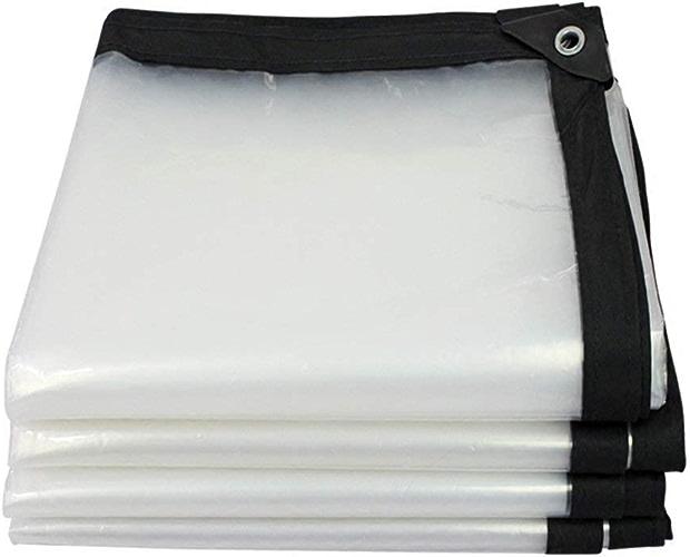 Tarpaulin Couverture de bache imperméable, bache Anti-Pluie Transparente épaissie, Haute Perforhommece pour sous-Couche de Tente extérieure renforcée pour camionnette, Plusieurs Tailles, 120G   M2
