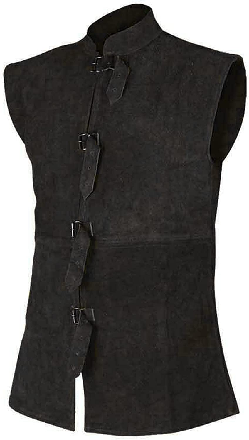 Vest Sales for sale for Men Button Strap Leather Retro Solid Collar Year-end gift Pocket
