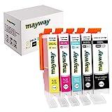 9. Mayway Ink Cartridges 280XL 281XL 280 281 XL for C A K E Printer, C A K E Maker, Work with PIXMATR7520 TR8520 TS6120 TS6220 TS8120 TS8220 TS9120 TS9520 TS9521C TS702 Printer (5 Pack, No Photo Blue)