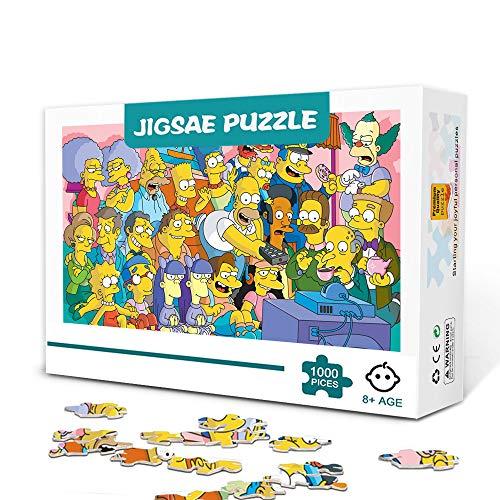 zhangkk Rompecabezas para Adultos 1000 Piezas Homer SimpsonPuzzle 1000 PiezasDesafío Educativo Juguete para aliviar el estrés para Adultos Niños 75x50cm