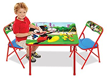 Jakks 43051 Mickey Mouse Table & Chairs Set For Kids - Furniture
