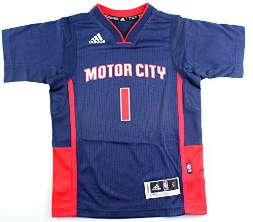 adidas Reggie Jackson Detroit Pistons NBA # 1Juventud Nueva Swingman Orgullo de Manga Corta Jersey