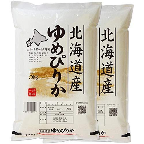 【玄米】 北海道産 ゆめぴりか 10kg (5kg×2袋) 令和元年産 特A米