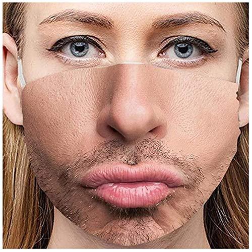 Youning 3D Druck Lustig Mundschutz Erwachsene Multifunktionstuch Waschbar Wiederverwendbar Stoffmaske Mundbedeckung Atmungsaktiv Mund-Nasenschutz Sport Halstuch