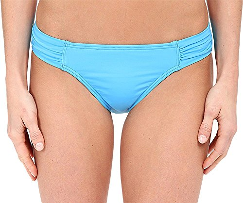 Tommy Bahama Women's Pearl Solids Side Shirred Hipster Bottoms Island Blue Swimsuit Bottoms XL (US 16)