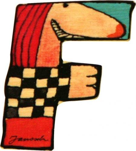 Janosch Buchstaben Holzbuchstaben F ca. 6cm