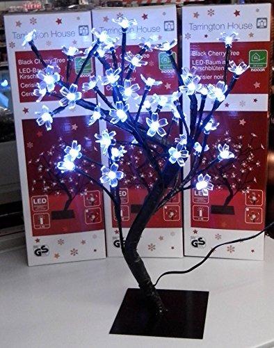 LED Baum mit Kirschblüten 48 LEDs und 24-Volt-Transformator Licht Kaltweiß INDOOR