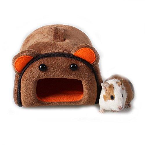 Hámster de hámster para mascotas, conejo, cobaya, hámster, casa, invierno, chinchilla, caseta, caseta de nido, accesorio para hámster