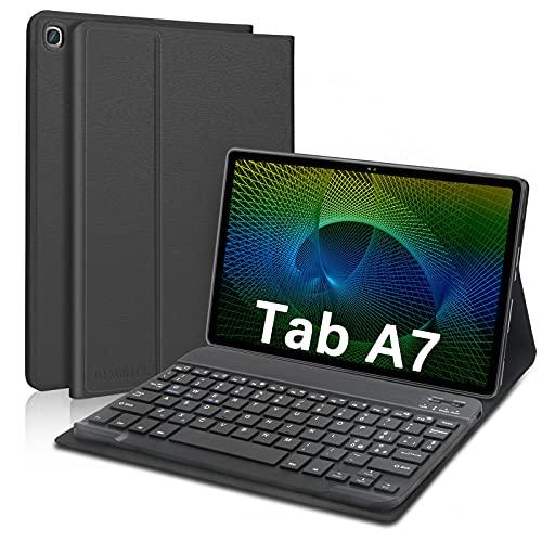 D DINGRICH Custodia con Tastiera Italiana per Samsung Tab A7 10.4, Cover Tablet Samsung A7 con Tastiera Wireless Rimovibile Magnetica, Tastiera per Galaxy Tab A7 2020 SM-T500 T505 T507, Nero