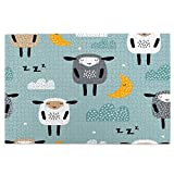 Jigsaw Puzzles 1000 Pieces,Seamless Pattern With Cute Sleeping Sheep,Moon,Clouds.Creative Good Night Large Jigsaw Puzzle Leisure Creative Games,Wall Home Decoration gifts